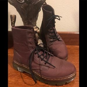 Dr Martens COMBS 8 Eye Nylon Combat Boots OXBLOOD